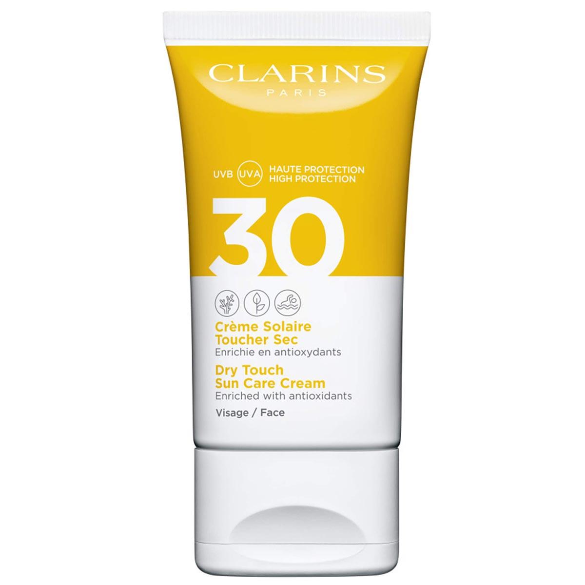 Clarins - Crème Solaire Toucher Sec Visage - UVA/UVB30 50 ml