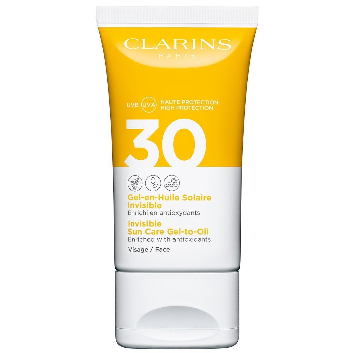 Clarins - Gel-en-Huile Solaire Invisible Visage - UVA/UVB30 50 ml
