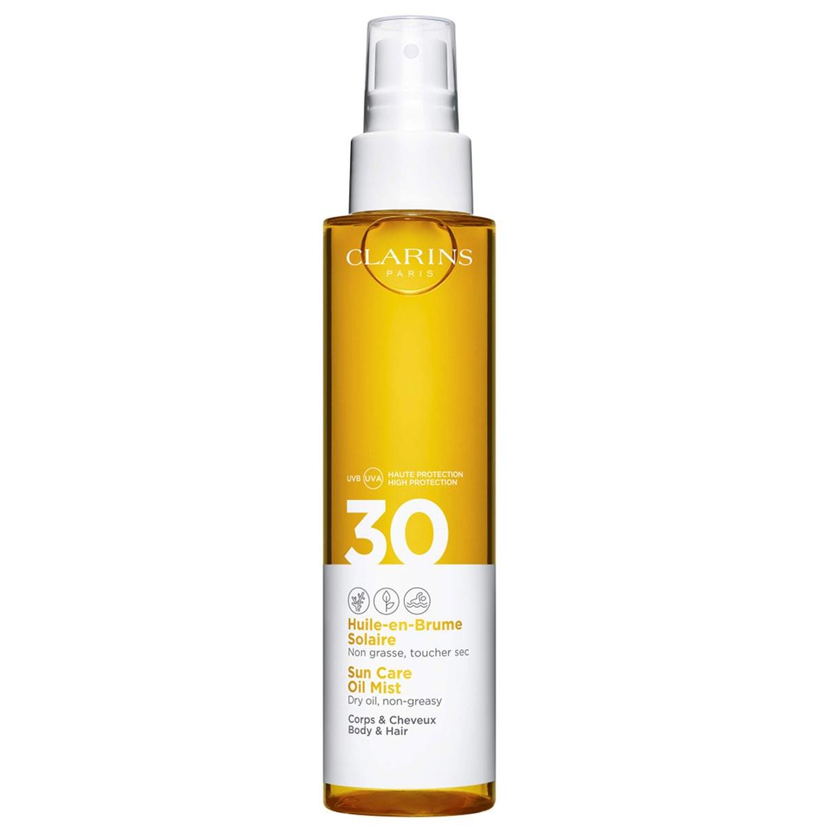Clarins - Huile-en-Brume Solaire Corps et Cheveux - UVA/UVB30 150 ml