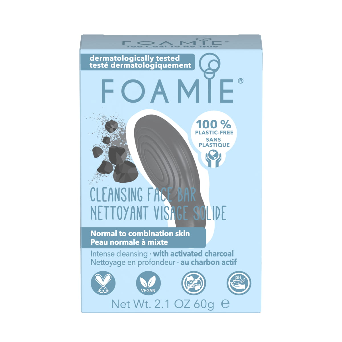 Foamie Nettoyant Visage solide - Too Coal To Be True