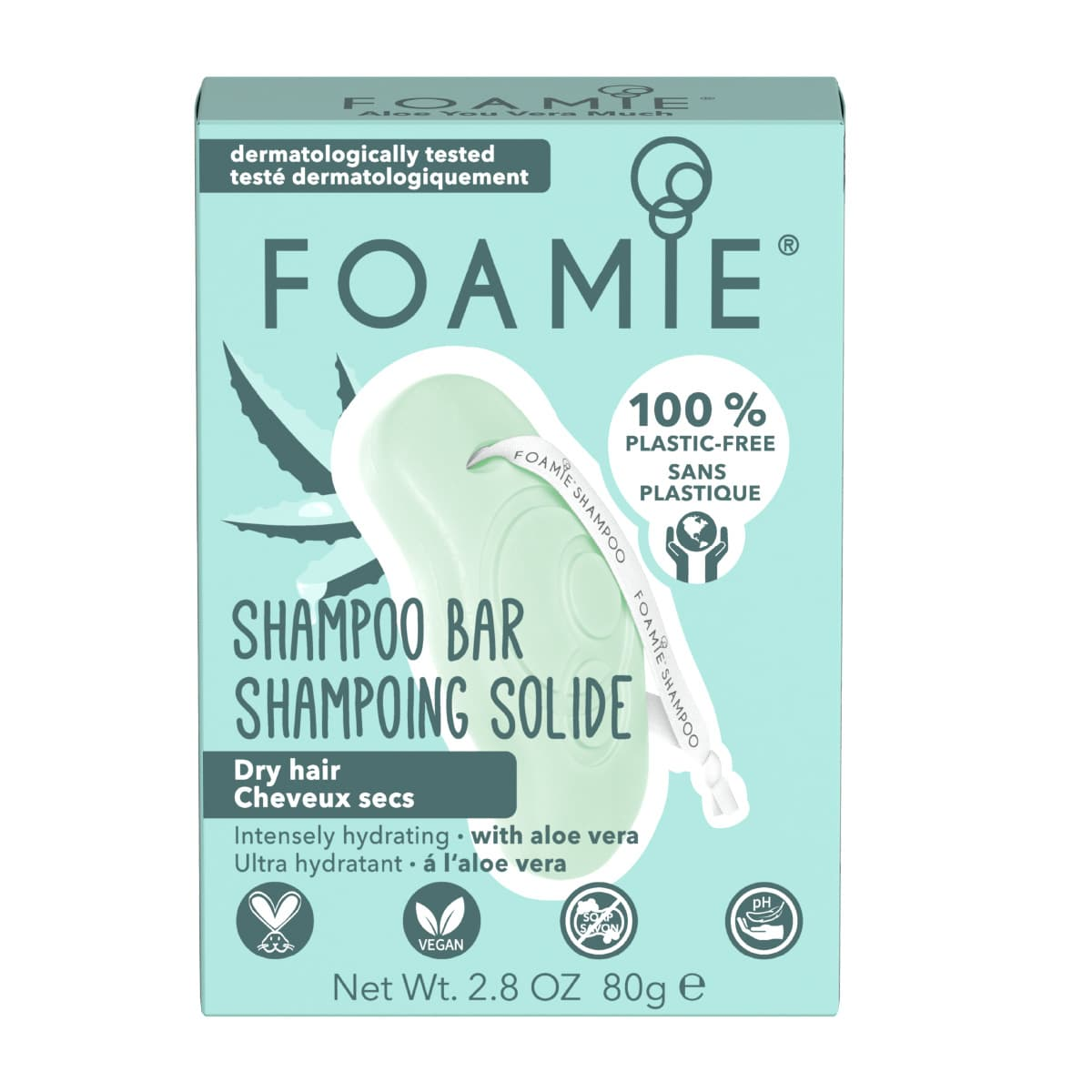 Foamie - Shampoing solide Aloe You Vera Much