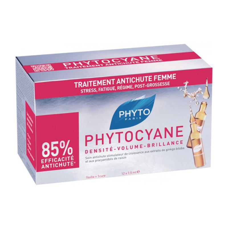 Phyto - Phytocyane Sérum antichute - 12 ampoules de 7.5 ml